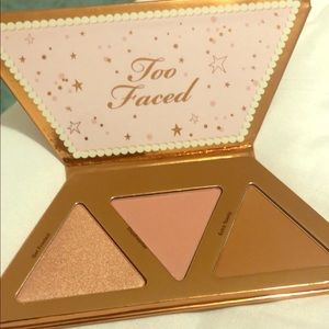 Too faced Christmas highlighter,bronzer,blush